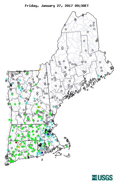 Current streamflow conditions in New England