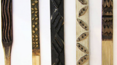 5 kapa printing tools with different patterns and designs