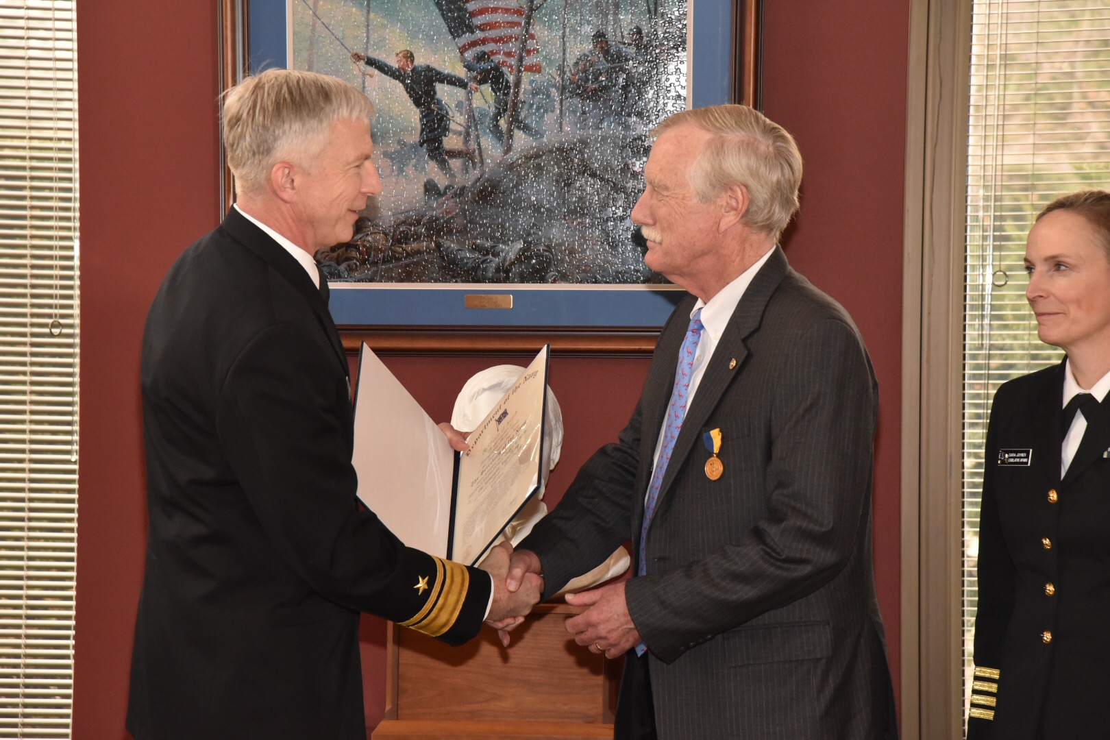 King Presented Navy's Highest Civilian Honor