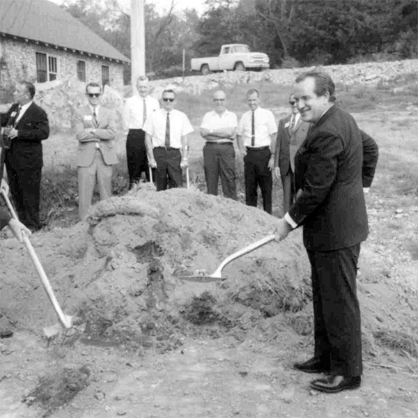 Al Capp, creator of Li'l Abner, at the Dogpatch groundbreaking on Oct. 3, 1967.