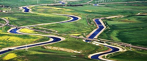photo of water transportation canals