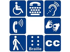 Disability symbols arranged in a circle