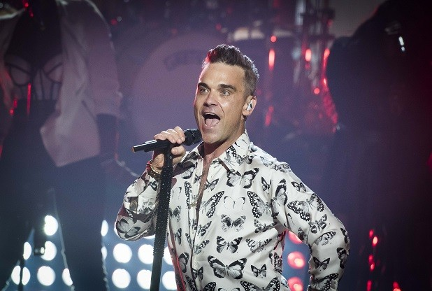 Robbie Williams is filming a music video in Kent