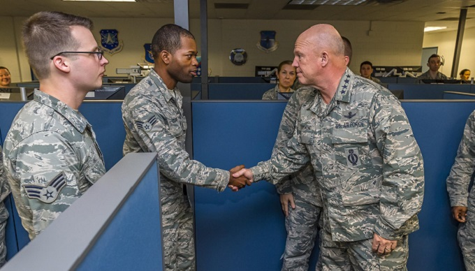 Newly Appointed AFSPC commander meets 24th Air Force