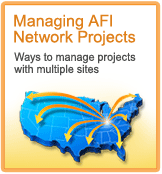 Managing AFI Network Projects