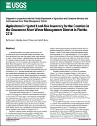cover image: Agricultural irrigated land-use inventory for the counties in the Suwannee River Water Management District in Florida, 2015