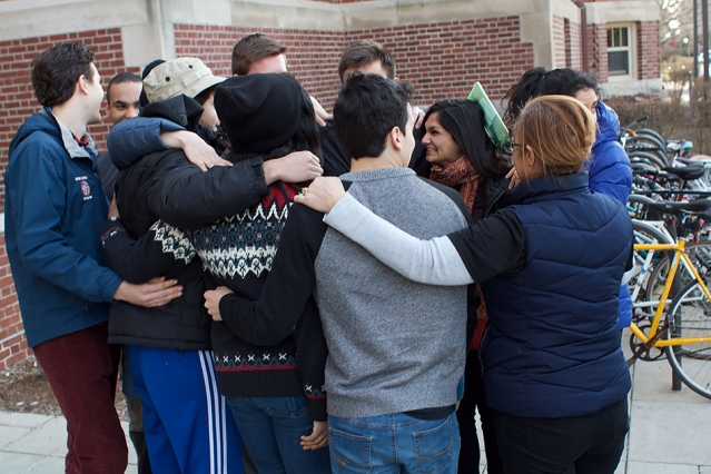Two MIT undergraduates who were denied re-entry to the United States received a warm welcome upon returning to campus.