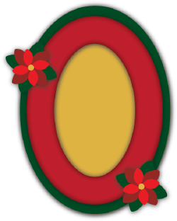 Christmas Photo Frame Oval cut file