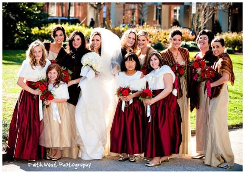 December wedding photos