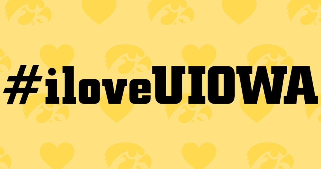 #iloveUIOWA graphic