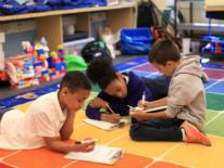 Kids studying in their classroom