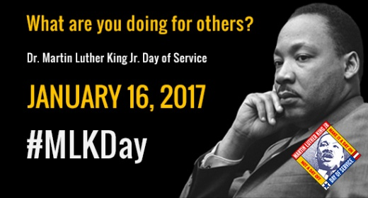What are you doing for others? | January 16, 2017 | Hashtag MLK DAY.