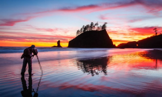 Sunset photography at Olympic National Park
