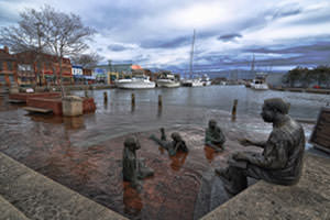 Annapolis, Maryland, pictured here in 2012, saw the greatest increase in nuisance flooding in a recent NOAA study. (Credit: With permission from Amy McGovern.)