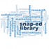 snap-ed library word cloud