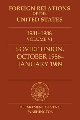 Book cover of Foreign Relations of the United States, 1981–1988,         Volume VI, Soviet Union, October 1986–January 1989