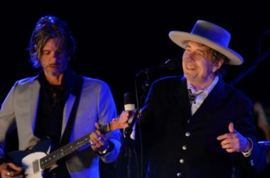 U.S. musician Bob Dylan performs on the second day of the Hop Farm Music Festival in Paddock Wood, Kent