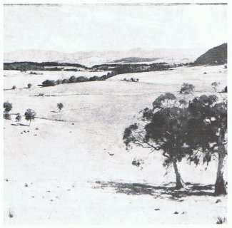 Early painting of Canberra
