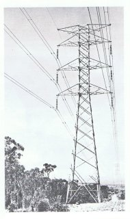 132 kV double circuit transmission tower