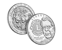 Lions Clubs International 2017 Centennial Proof and Uncirculated Coins