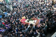 Thousands Attend Funeral of Martyred youth Younus and Mudasir at Redwani Balla Kulgam