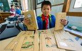 他的书皮是教体育的爸爸画的