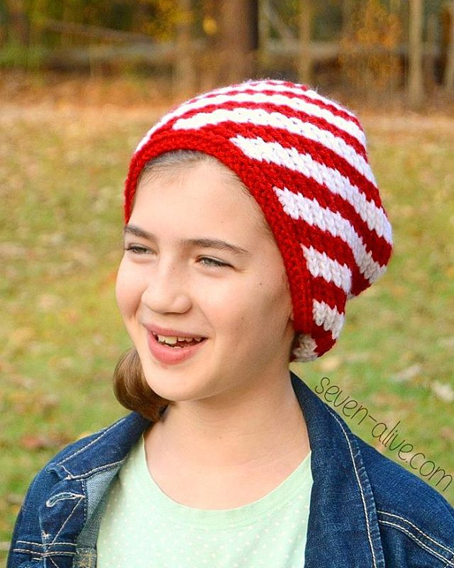 Free Pattern Alert The Candy Cane Stripe Slouchy Hat ishellip