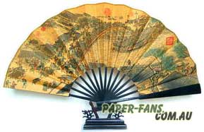 paper fans with stand
