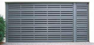 commercial slatted aluminium sectional doors