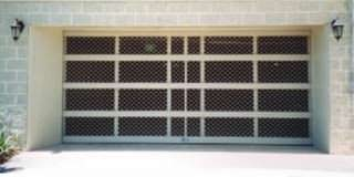 commercial amplimesh sectional overhead door