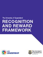 UQ Reward and Recognition Framework Guidelines document