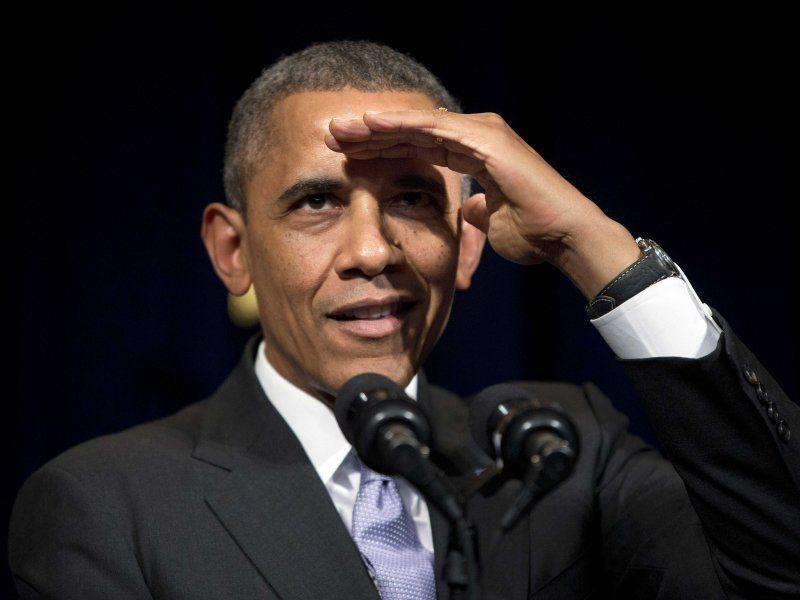 Barack Obama looking