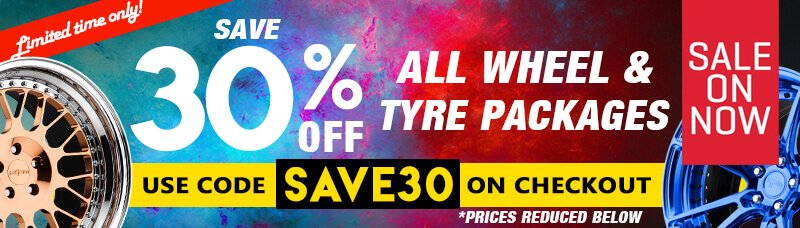 save 30% on all wheel and tyre packages