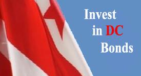 """Image with text that reads """"Invest in DC Bonds"""""""