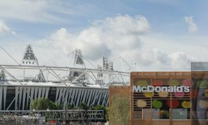 The McDonald's restaurant on the London Olympic site