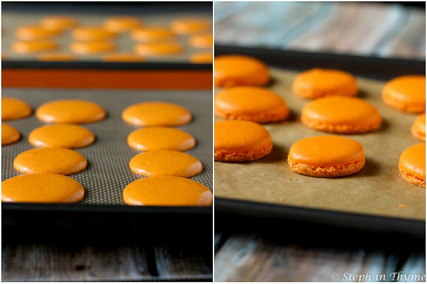 Orange Dark Chocolate Macarons l www.stephinthyme.com