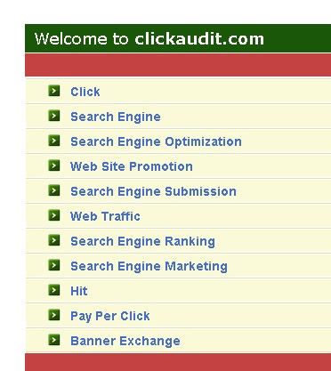 ClickAudit.com (Click Audit) parked page with PPC ads