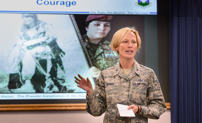 Pringle applauds courage, hard work at 25th Air Force