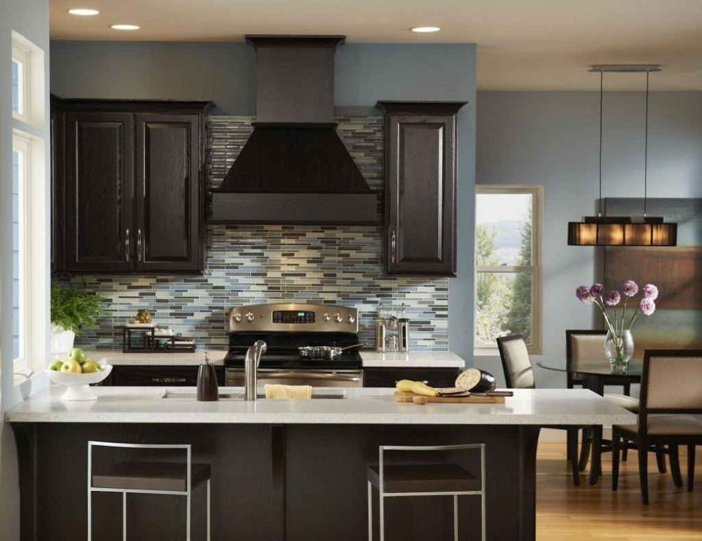Image of: Black Painted Kitchen Cabinets