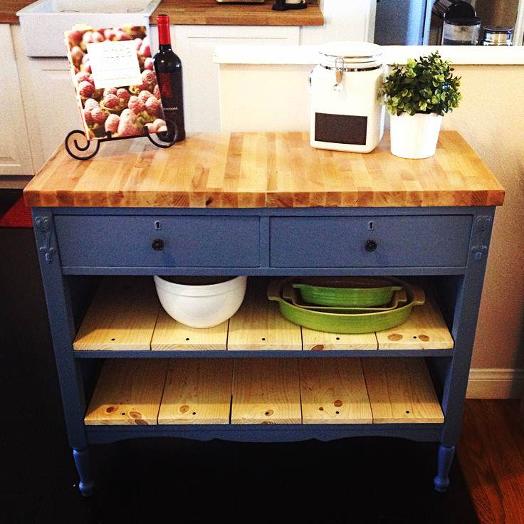 Image of: DIY Butcher Block Table