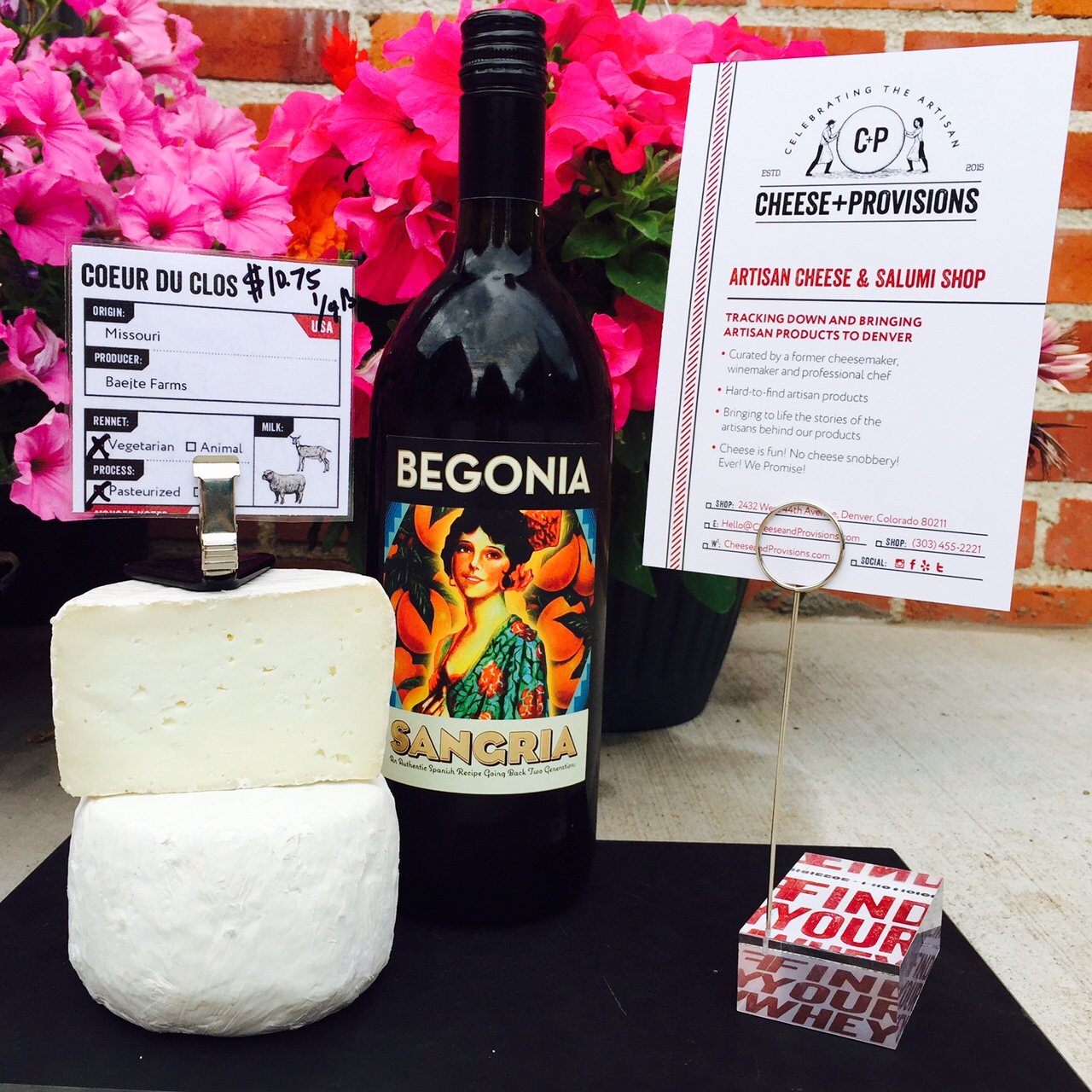 A Suggested Wine and Cheese Pairing
