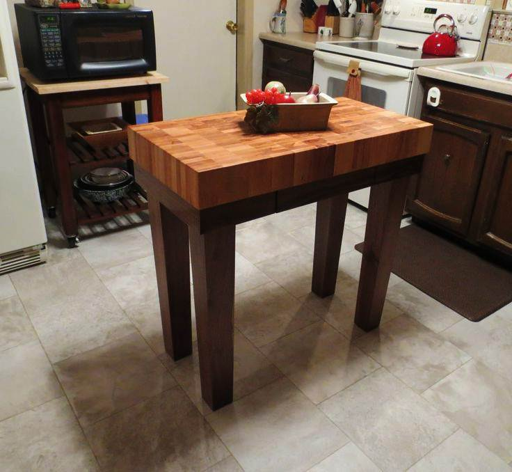 Image of: Butcher Block Table Ikea