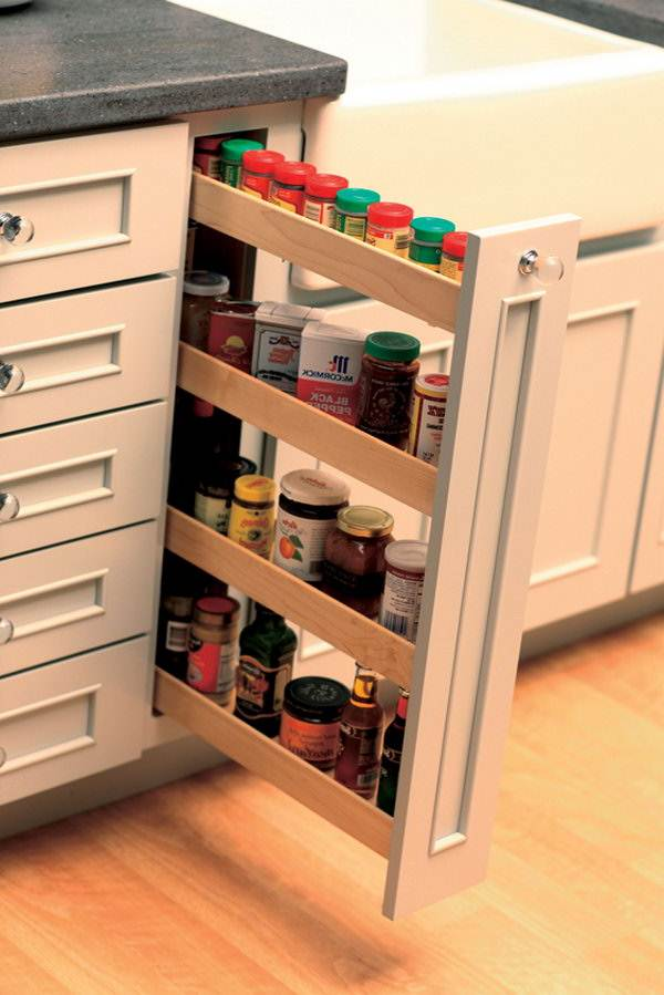 Image of: Pull Out Kitchen Cabinet Organizers