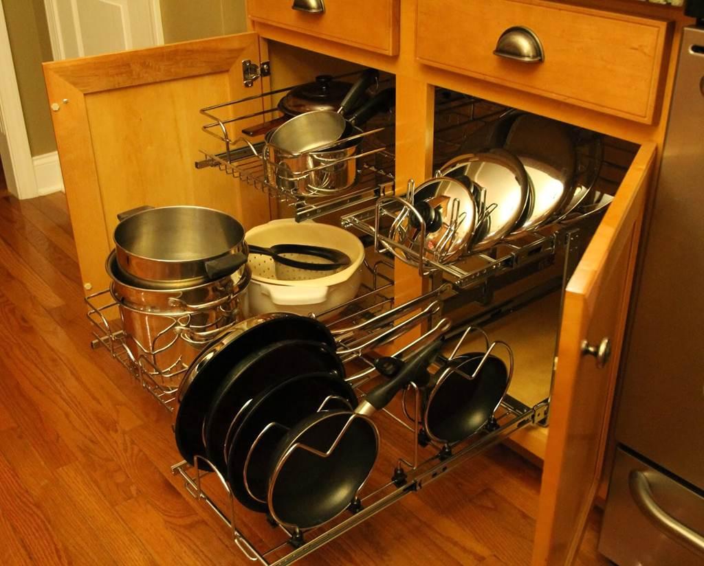 Image of: Kitchen Cabinet Shelf Organizers