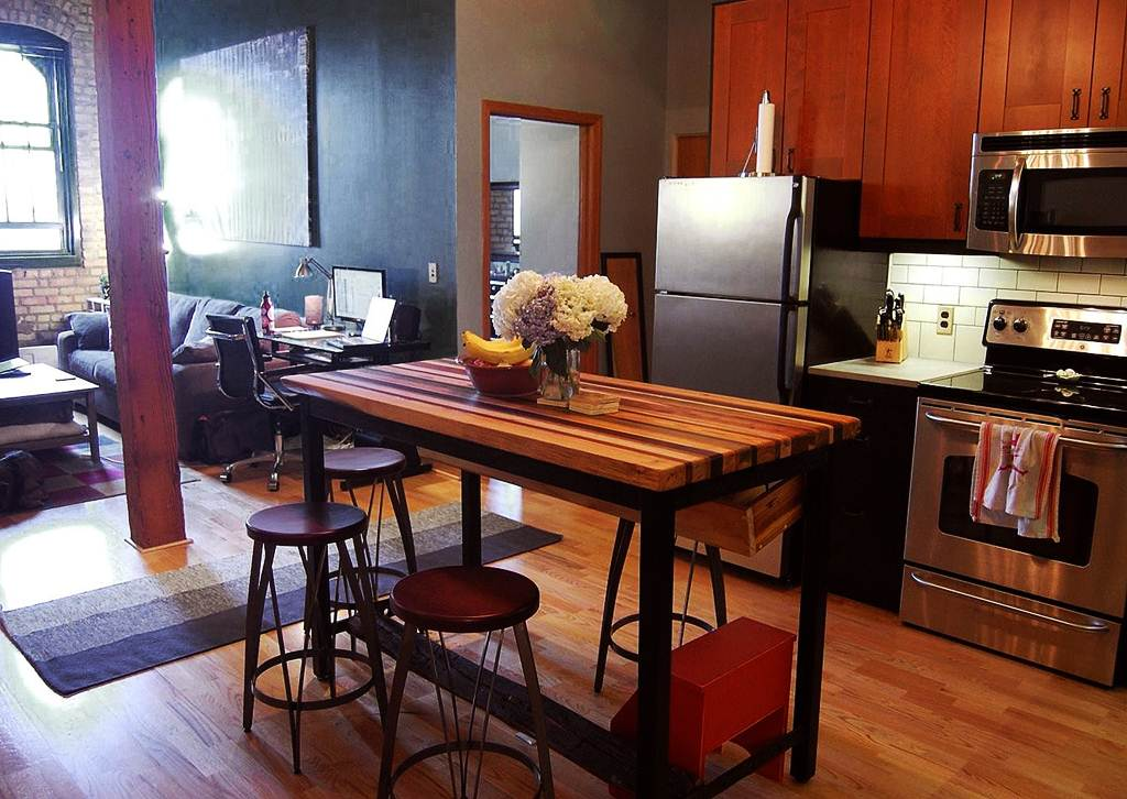 Image of: Butcher Block Dining Room Table