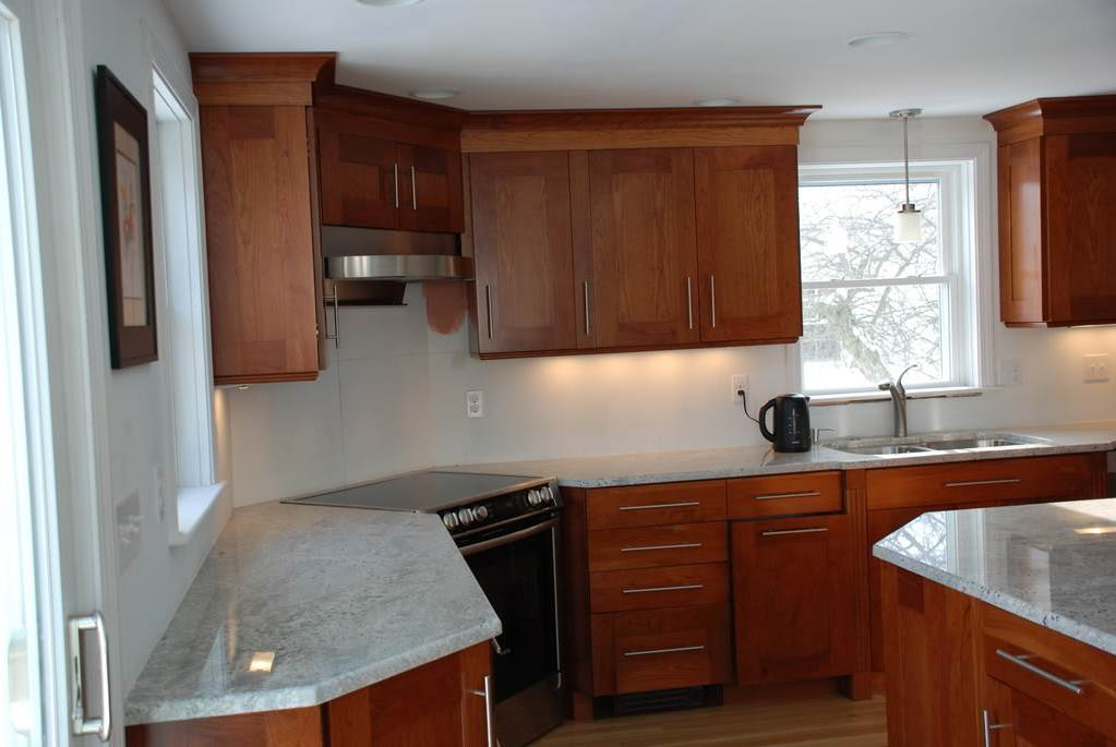 Image of: Light Cherry Kitchen Cabinets
