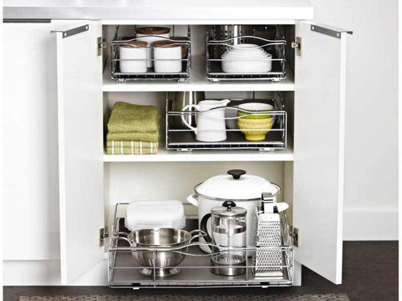Image of: Kitchen Cabinet Organizers Rack