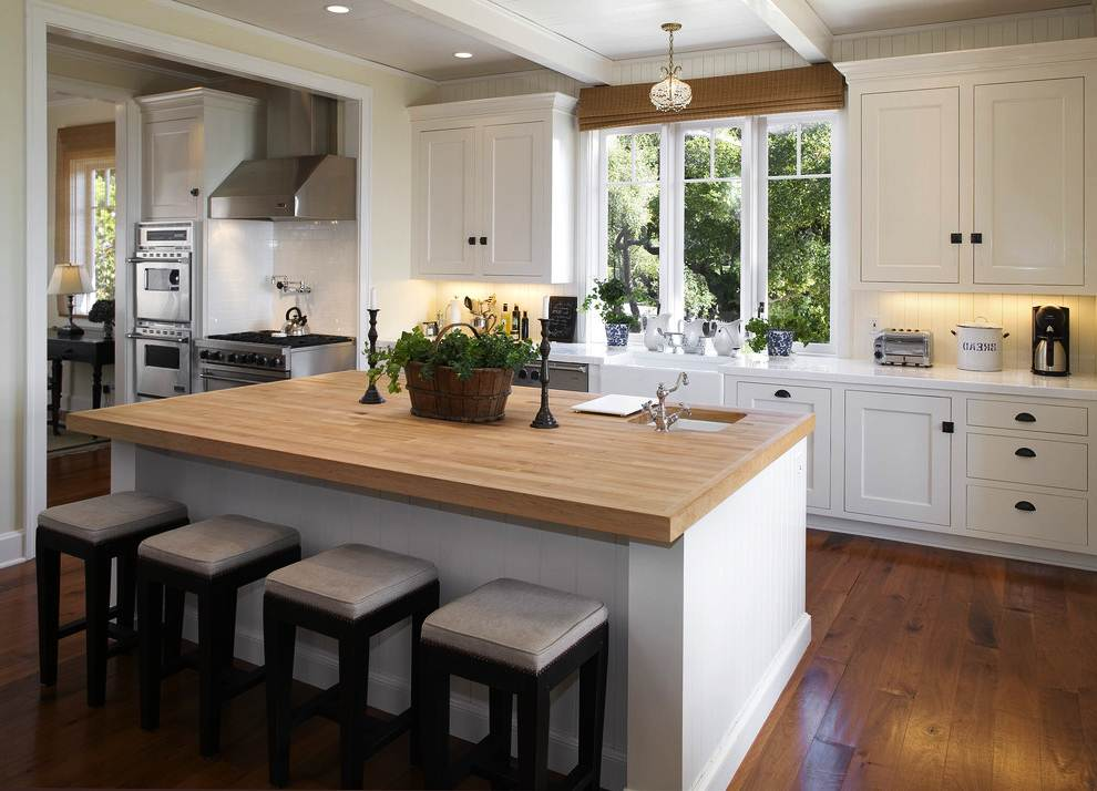 Image of: Kitchen Island Butcher Block