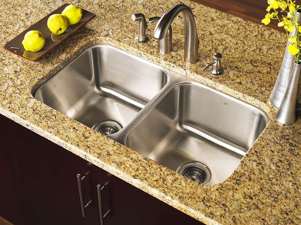 Image of: Double Bowl Stainless Steel Kitchen Sink
