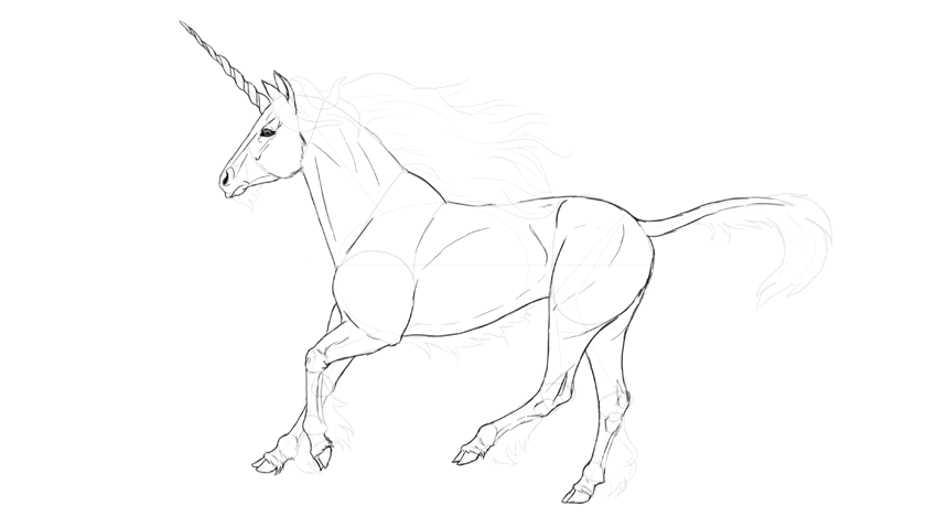 how to draw detailed horse